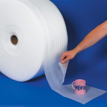 """UPSable Shipping Foam Rolls, 1/8"""" Thick, 12"""" x 350', Perforated"""