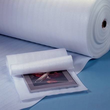 """Shipping Foam Rolls, 3/32"""" Thick, 18"""" x 750', Non-Perforated"""
