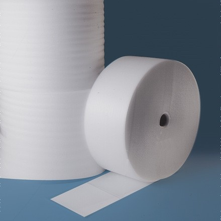 """Shipping Foam Rolls, 1/8"""" Thick, 12"""" x 550', Perforated"""