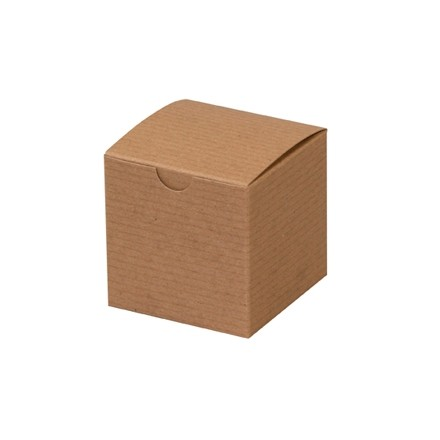 Chipboard Boxes, Gift, Kraft, 3 x 3 x 3""