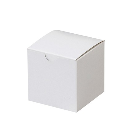 Chipboard Boxes, Gift, White, 3 x 3 x 3""