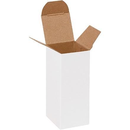 "Chipboard Boxes, Folding Cartons, Reverse Tuck, 1 1/2 x 1 1/2 x 4"", White"
