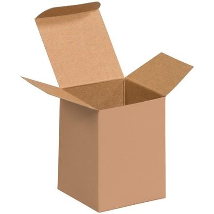 "Chipboard Boxes, Folding Cartons, Reverse Tuck, 3 x 3 x 4"", Kraft"