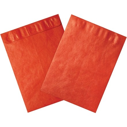 "Tyvek® Envelopes, Red, 12 x 15 1/2"""