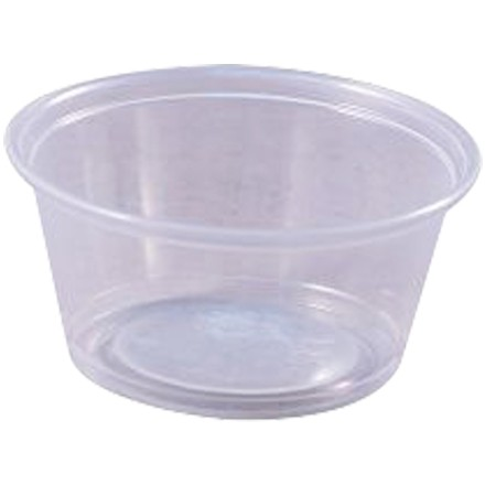 Plastic Portion Cups, 3 1/4 oz.