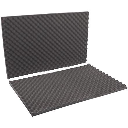 """Charcoal Convoluted Foam Sets - 24 x 36 x 2"""" , 2 Sheets Per Set"""