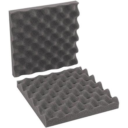 """Charcoal Convoluted Foam Sets - 10 x 10 x 2"""" , 2 Sheets Per Set"""