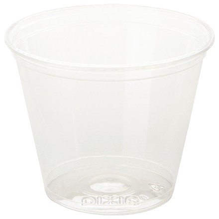 Dixie® Crystal Clear Plastic Squat Cups, 9 oz.