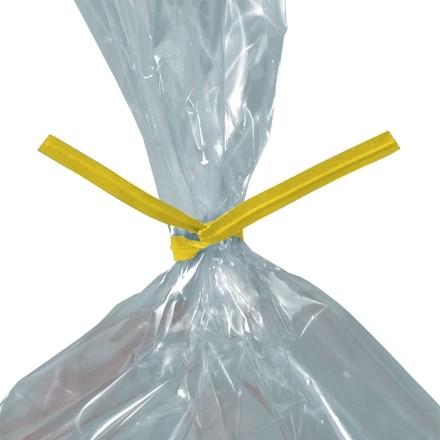 """Paper Twist Ties, Yellow, Pre-Cut, 4 x 5/32"""""""