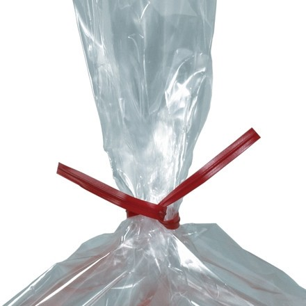 """Plastic Twist Ties, Red, Pre-Cut, 7 x 5/32"""""""