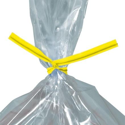 """Plastic Twist Ties, Yellow, Pre-Cut, 4 x 5/32"""""""
