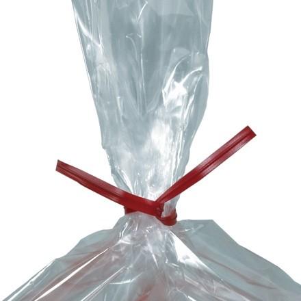 """Plastic Twist Ties, Red, Pre-Cut, 4 x 5/32"""""""