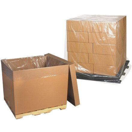 "Clear Pallet Covers, 54 x 44 x 120"", 2 Mil"