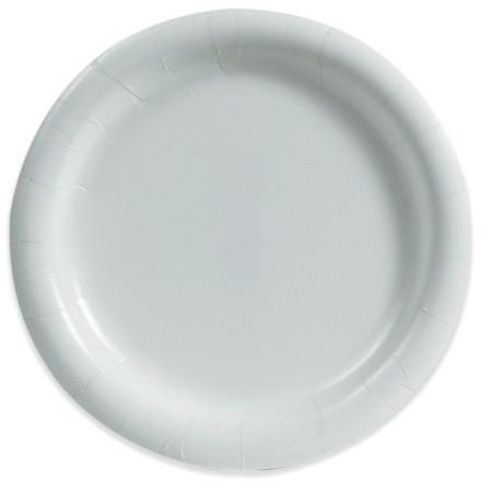 "Medium-Duty Paper Plates, White, 9"""