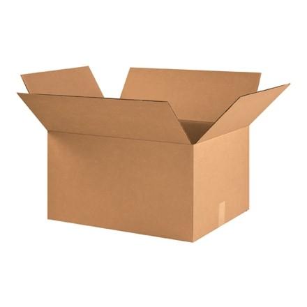 "Corrugated Boxes, 22 x 17 x 12"", Kraft"