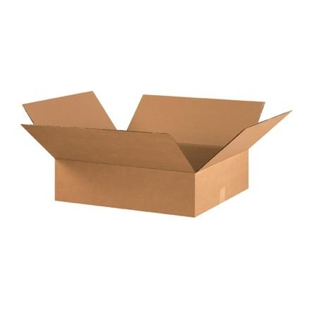 "Corrugated Boxes, 22 x 18 x 4"", Kraft, Flat"