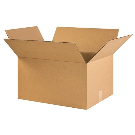 "Corrugated Boxes, 22 x 16 x 12"", Kraft"