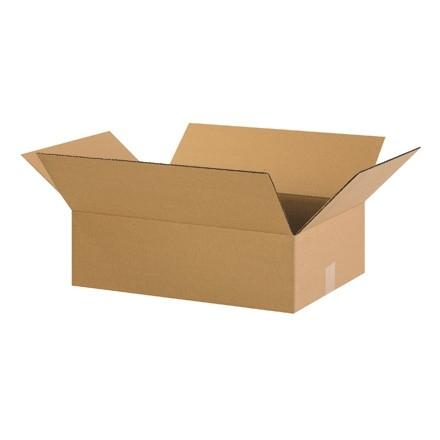 "Corrugated Boxes, 22 x 16 x 4"", Kraft, Flat"