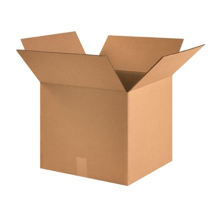 "Corrugated Boxes, 16 x 16 x 14"", Kraft"