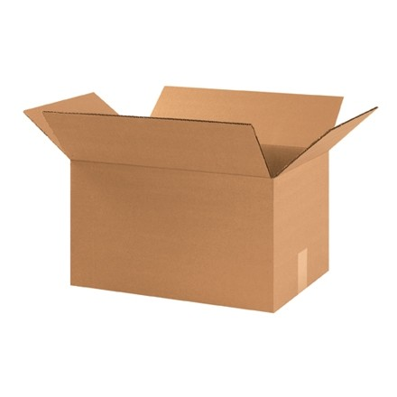 "Corrugated Boxes, 17 1/4 x 11 1/4 x 10"", Kraft"