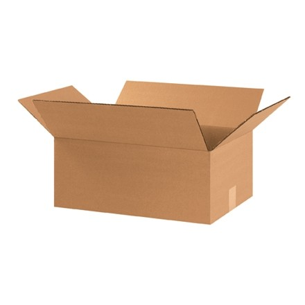 "Corrugated Boxes, 17 1/4 x 11 1/4 x 7"", Kraft"
