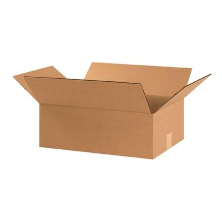 "Corrugated Boxes, 17 1/4 x 11 1/4 x 6"", Kraft"