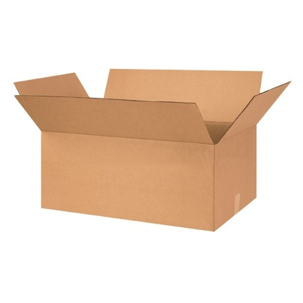 "Corrugated Boxes, 26 x 16 x 10"", Kraft"