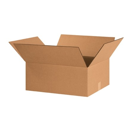 "Corrugated Boxes, 20 x 16 x 8"", Kraft"