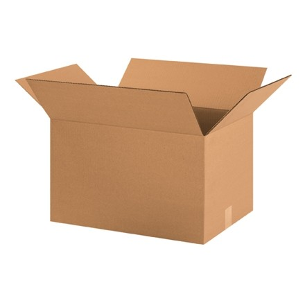 "Corrugated Boxes, 20 x 14 x 12"", Kraft"