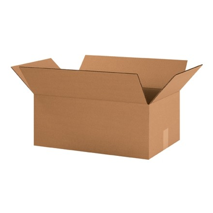 "Corrugated Boxes, 19 x 12 x 7"", Kraft"