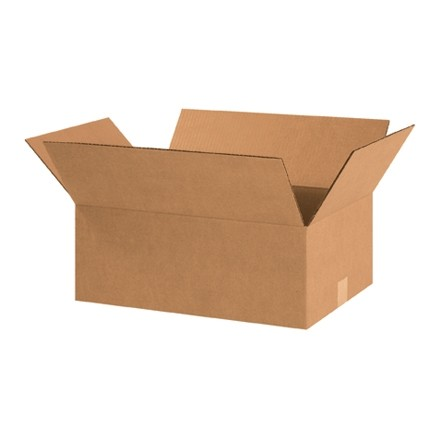 "Corrugated Boxes, 18 1/2 x 12 1/2 x 7"", Kraft"