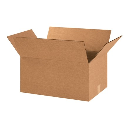 "Corrugated Boxes, 16 x 12 x 9"", Kraft"