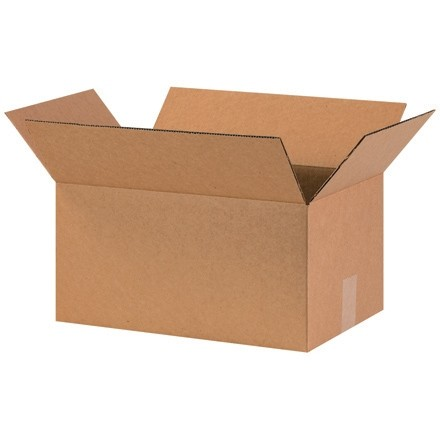 "Corrugated Boxes, 16 x 10 x 8"", Kraft"