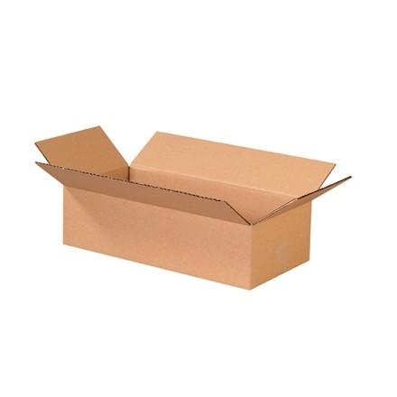 "Corrugated Boxes, 16 x 8 x 4"", Kraft, Flat"