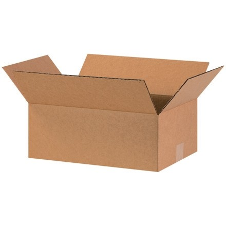"Corrugated Boxes, 16 x 10 x 6"", Kraft"