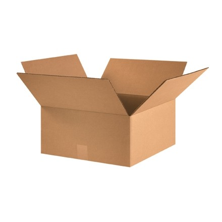 "Corrugated Boxes, 15 x 15 x 7"", Kraft"