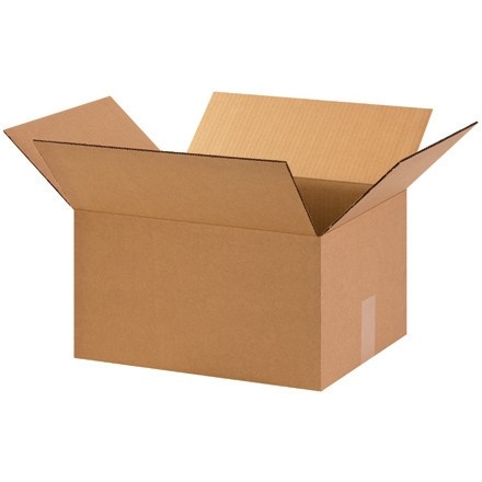 "Corrugated Boxes, 15 x 12 x 8"", Kraft"
