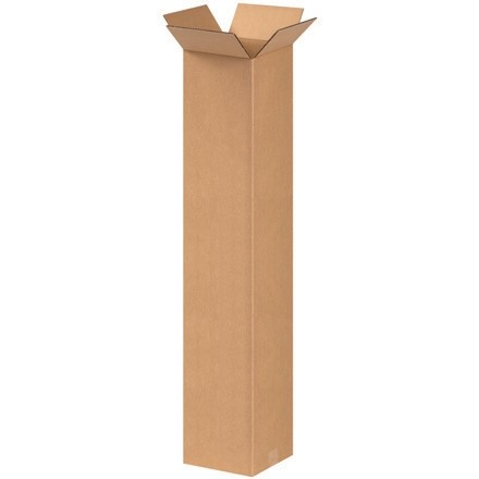 "Corrugated Boxes, 8 x 8 x 42"", Kraft"