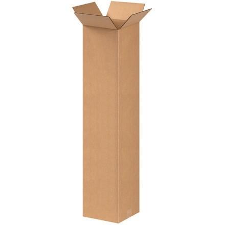 "Corrugated Boxes, 8 x 8 x 38"", Kraft"