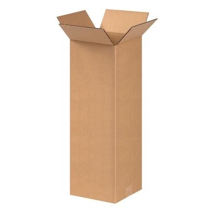 "Corrugated Boxes, 8 x 8 x 20"", Kraft"