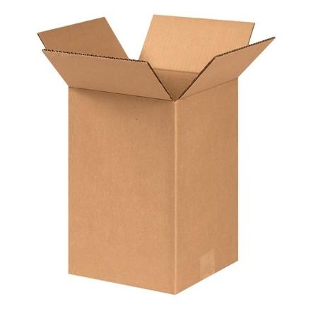 "Corrugated Boxes, 8 x 8 x 11"", Kraft"