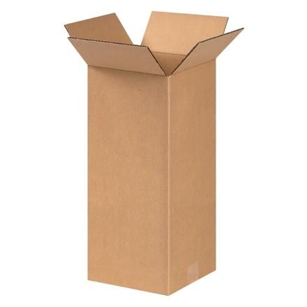 "Corrugated Boxes, 8 x 8 x 17"", Kraft"