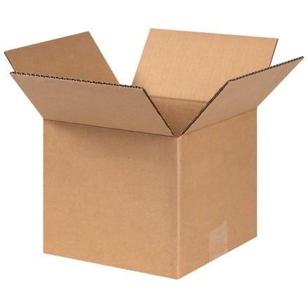 "Corrugated Boxes, 8 x 8 x 7"", Kraft"