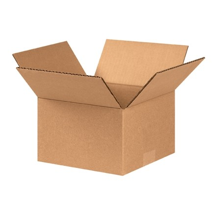 "Corrugated Boxes, 8 x 8 x 5"", Kraft"