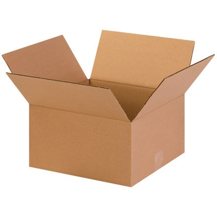 "Corrugated Boxes, 13 x 13 x 7"", Kraft"