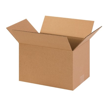 "Corrugated Boxes, 13 x 9 x 7"", Kraft"
