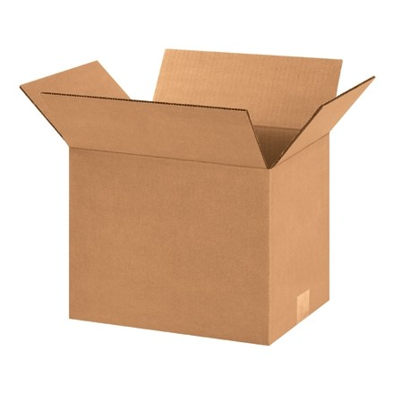 "Corrugated Boxes, 12 1/4 x 9 1/4 x 9"", Kraft"