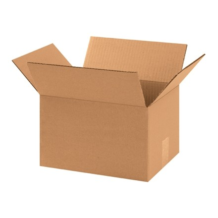 "Corrugated Boxes, 11 1/4 x 8 3/4 x 8"", Kraft"