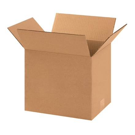 "Corrugated Boxes, 11 1/4 x 8 3/4 x 10"", Kraft"