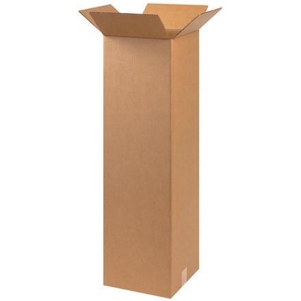 "Corrugated Boxes, 10 x 10 x 36"", Kraft"